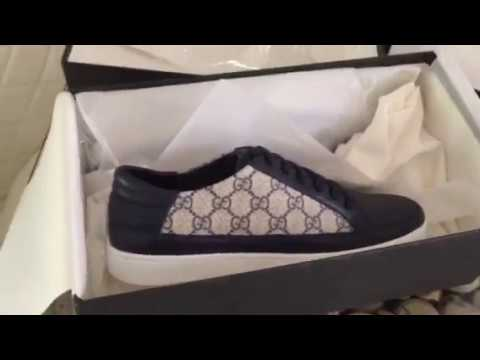 03c62872e45 Gucci GG Supreme Low Top Sneakers Size 9D Review & Unboxing - YouTube
