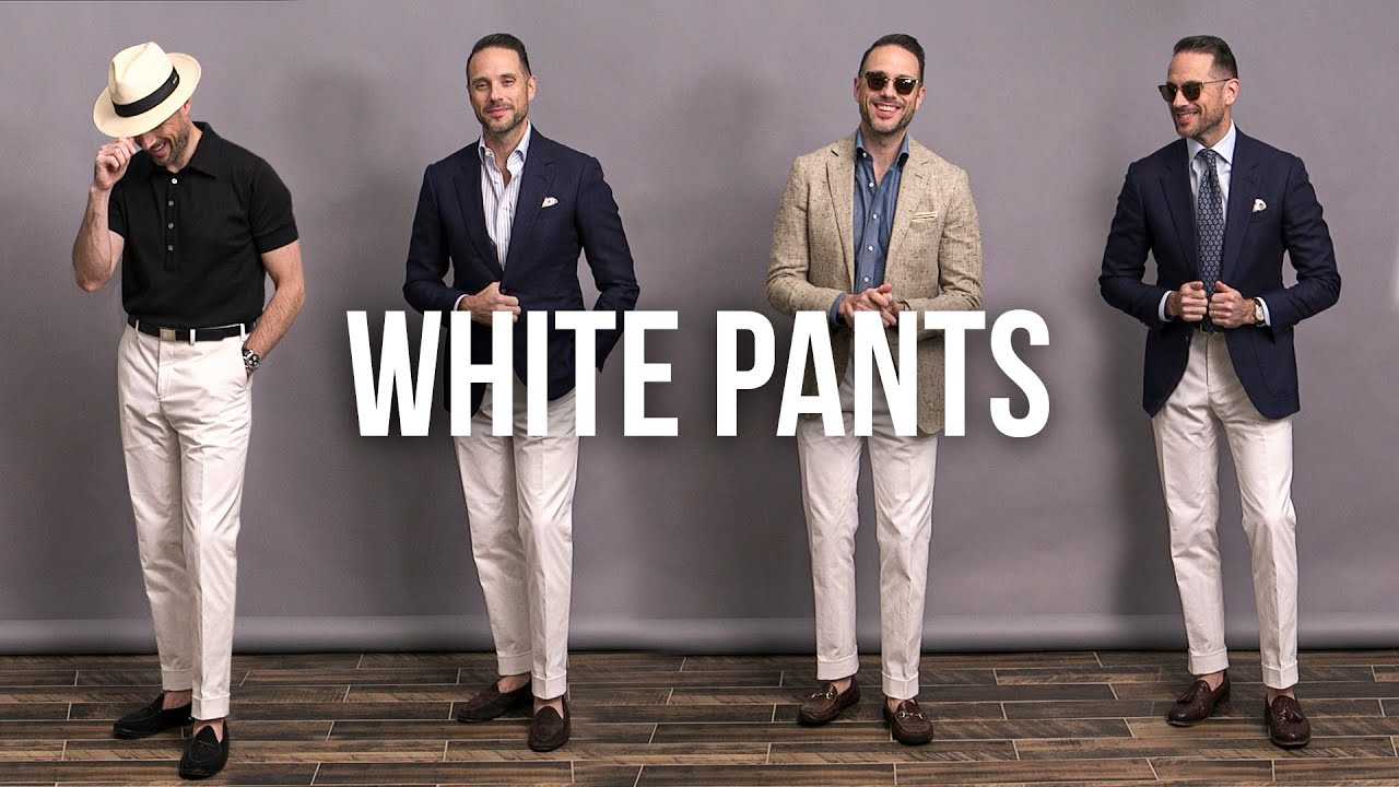 How To Style White Pants | Men's Summer Outfit Ideas
