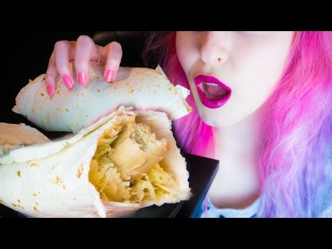 ASMR: German Bratwurst Sauerkraut Wrap ~ Relaxing Eating Sounds [No Talking | Vegan] 😻