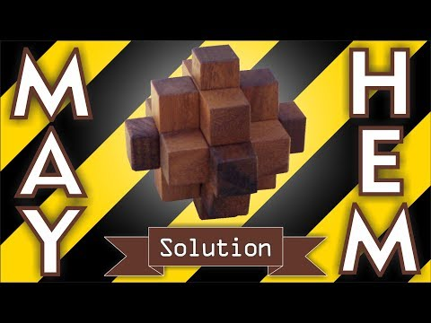 Solution for Mayhem from Puzzle Master Wood Puzzles