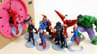 FPSすぽすぽ マーベルヒーロー アベンジャーズ 落とし穴に入っていく アイアンマン キャプテンアメリカ