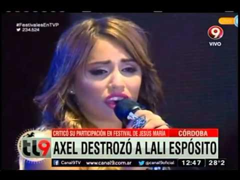 Axel destrozó a Lali Espósito: Criticó su participación en el festival Jesús María