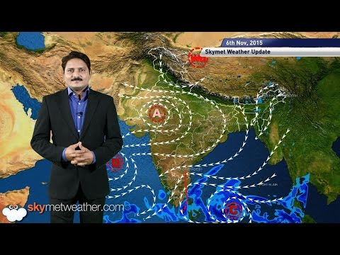 HINDI Weather forecast for November 6, 2015: Peninsular India receives light rain.