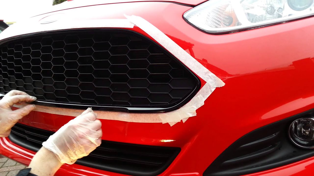 New Ford Fiesta 2013 Diy Front Grille Replacement Youtube