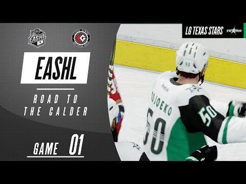 SEASON OPENER! | NHL 18 EASHL - Road To The Calder ep 1 | LGAHL Texas vs Tucson (S29, Game 1)