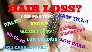 HAIR LOSS (Vegan, 801010, Rawtill4, HCLF, Low Carb, Eating Disorders, etc.)