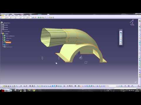 Catia V5 GSD Tutorial Lüftergehäuse (Übungsaufgabe) Part 3