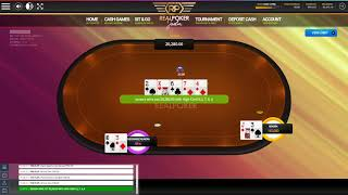 Final hand from the No Deposit Hourly Freeroll Tournament