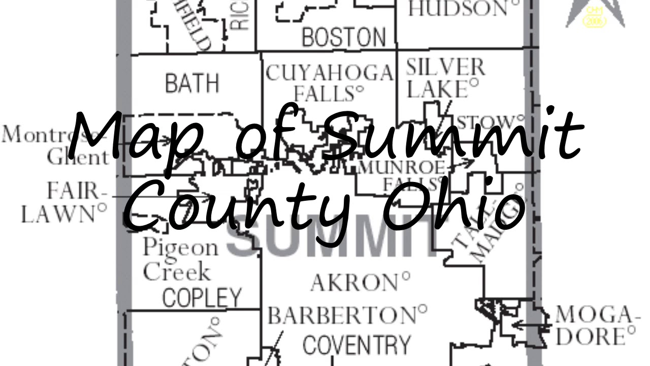 How To Say Map Of Summit County Ohio In English Youtube