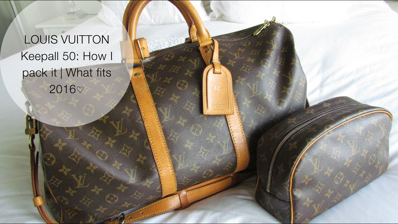 f19b213481bd Louis Vuitton Keepall 50  How I pack it