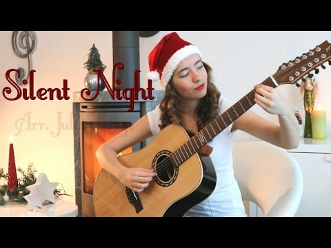 """Silent Night"" on a 12-string guitar - Julia Lange (Fingerstyle/Classical guitar)"