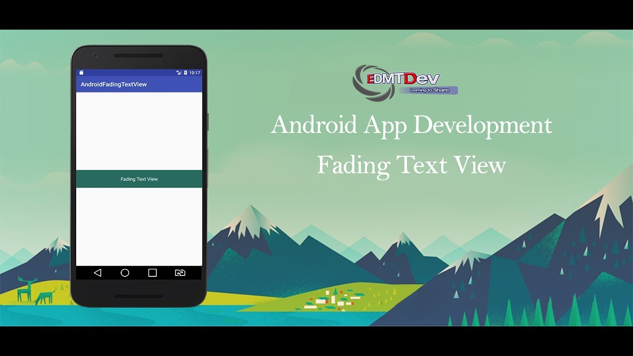 Android Studio Tutorial - Fading Text View