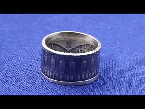Guns + Gold | Silver Plated Copper Coin - Kupfer Münze 10 Mikron Feinsilberauflage