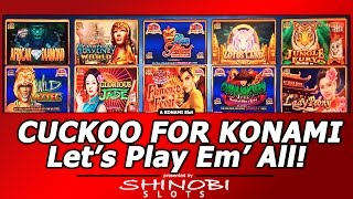 Cuckoo For Konami, Let's Play Em' All!  Going through all 10 games in a Konami Selexion slot machine