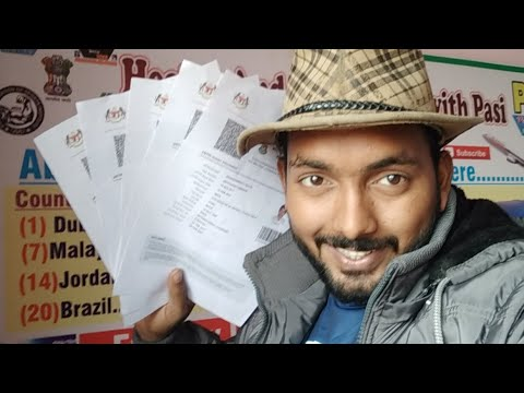 Live 5 Visa Proof For Malaysia selelcted Candidates, From Pasi Sir,  Congratulations to all Viewers