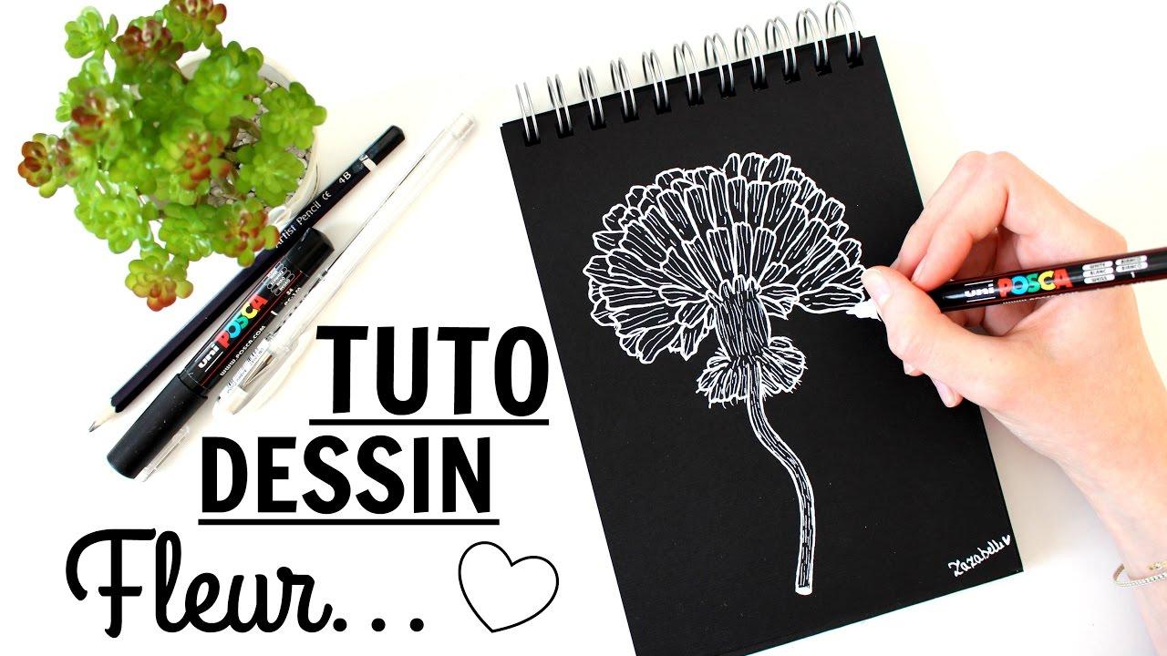 Tuto Dessin Fleur Sur Papier Noir