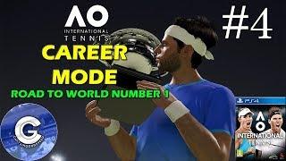 Let's Play AO International Tennis | Career Mode #4 | CHARACTER CUSTOMISATION & TRAINING