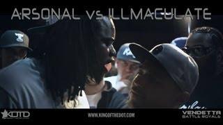KOTD - Rap Battle - Arsonal vs Illmaculate   #Vendetta