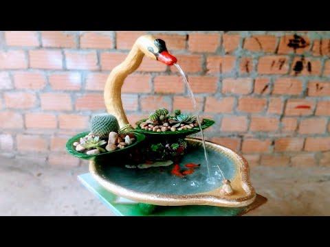 DIY flower pots/waterfalls/fish farming // Creative ideas of garden decoration at home