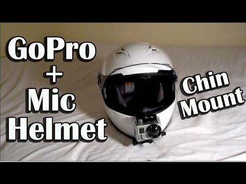 Shoei Gt Air >> GoPro Hero Helmet Chin Mounting and Mic Set-Up ...