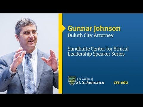 Sandbulte Center for Ethical Leadership Speaker Series: Gunnar Johnson