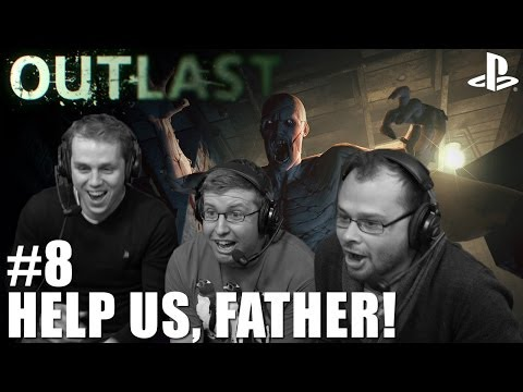 Let's Play Outlast on PS4: Episode Eight - Help us, Father! (1080p gameplay)
