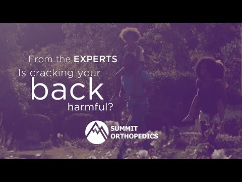 From the Experts | Cracking Your Back
