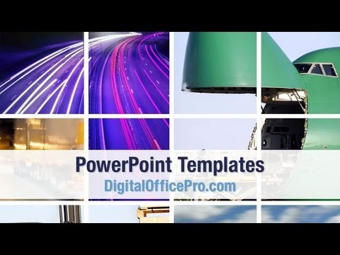 Transportation Collage PowerPoint Template Backgrounds