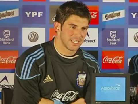 FIFA World Cup 2010 - Romero and Andujar of Argentina talk about the German challenge , and England