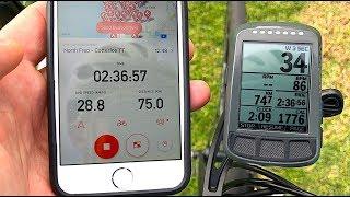 strava iPhone App vs GPS Bike Computer (Elemnt BOLT)