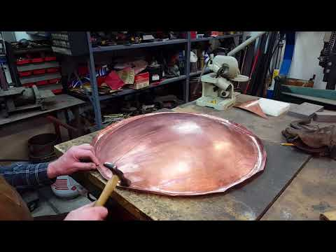 Rolling an Edge on Copper Bowl