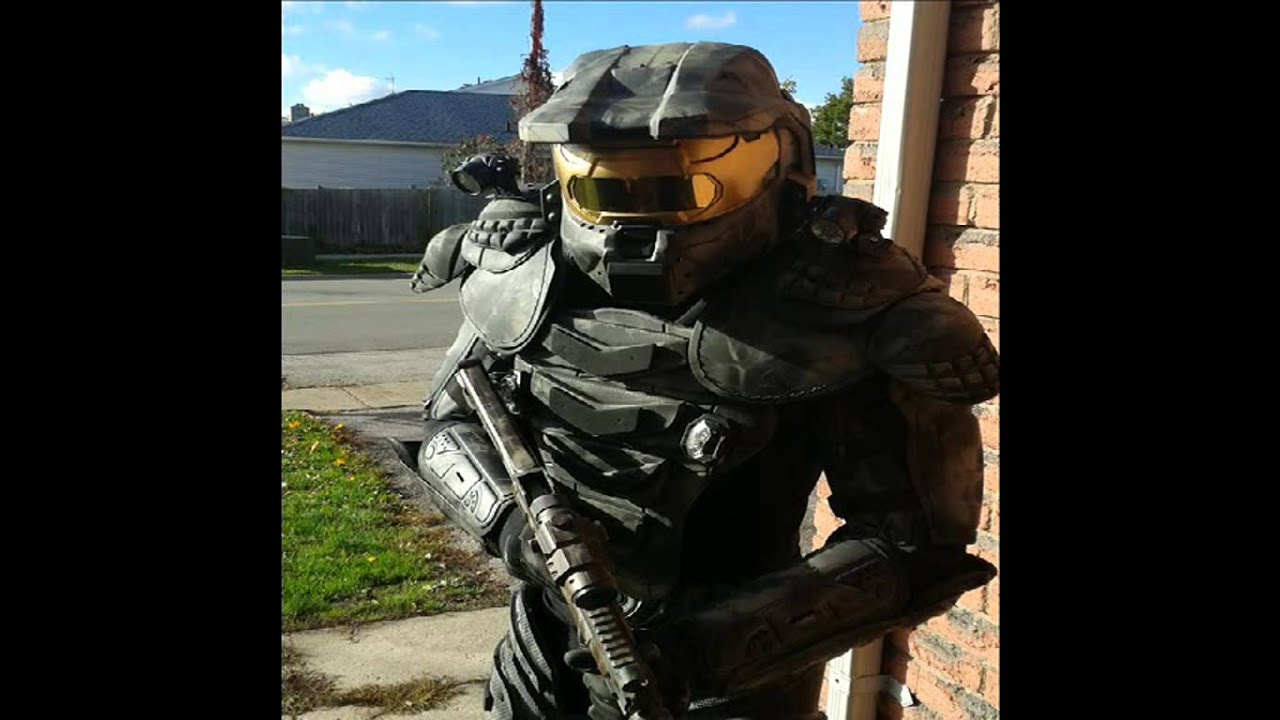Homemade Halo Master Chief Costume Youtube