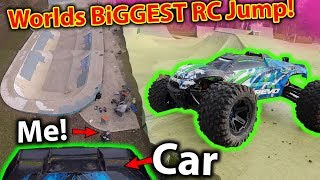 Biggest RC Cars Jump in the World? Traxxas E-Revo 2.0 goes to the moon!