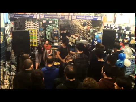 Mineral in-store at Banquet Records
