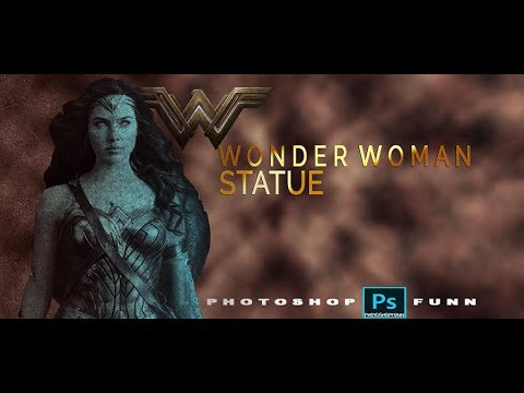 Photoshop Tutorial: how to create a Statue Wonder woman thumbnail