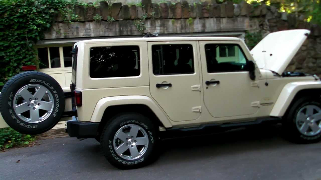 My 2012 Sahara Tan Jeep Wrangler Unlimited Sahara Walkthrough 1080p