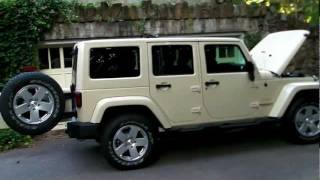 My 2012 Sahara Tan Jeep Wrangler Unlimited Sahara Walkthrough 1080p