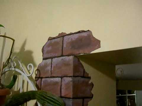 Faux Chipped Paint And Bricks Youtube
