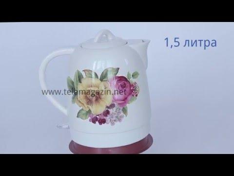 Керамический электрический чайник ЕТ-203 купить в интернет магазине Телемагазин.