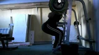 20 x 180kg/396lbs SQUAT (no belt) @ 105.9kg/233.3lbs BW.