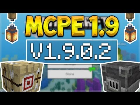 MCPE 1.9 BETA NEW CRAFTING TABLES! Minecraft Pocket Edition - NEW Furnaces & Lanterns Added