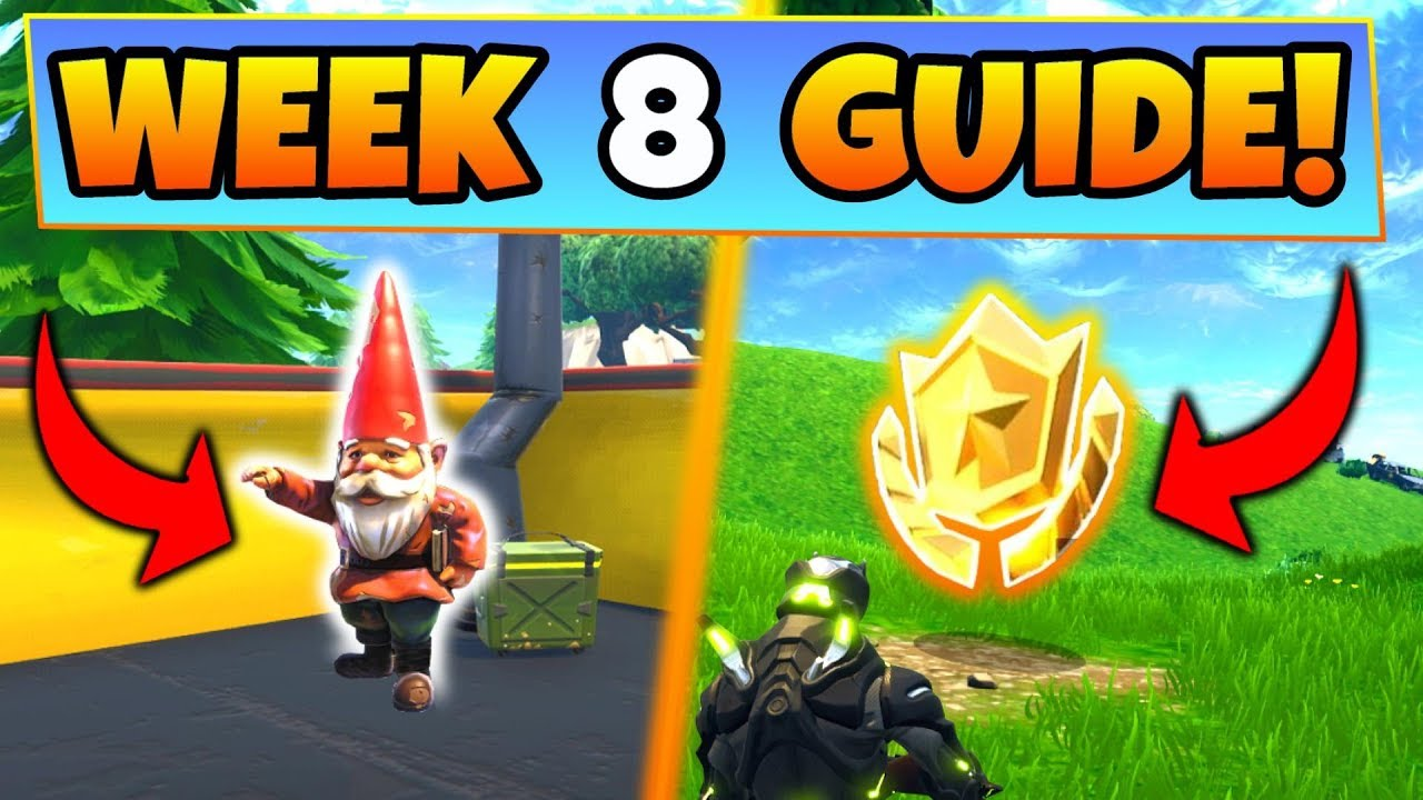 Fortnite Week 8 Challenges Guide Hungry Gnomes Locations