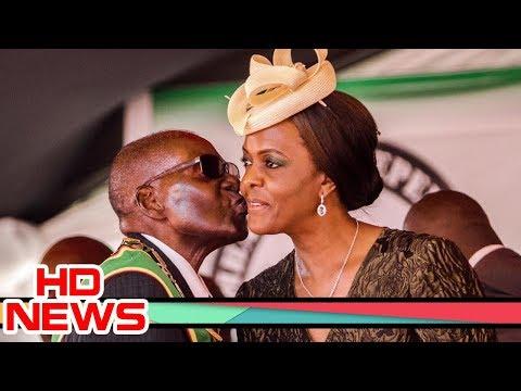 Grace Mugabe Beat Robert Mugabe In Public, Again