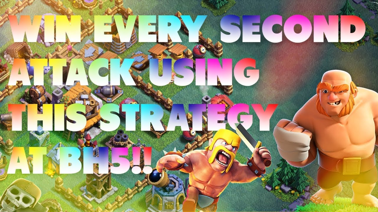 Clash Of Clans - How To Win Every Second Attack At BH5!!?