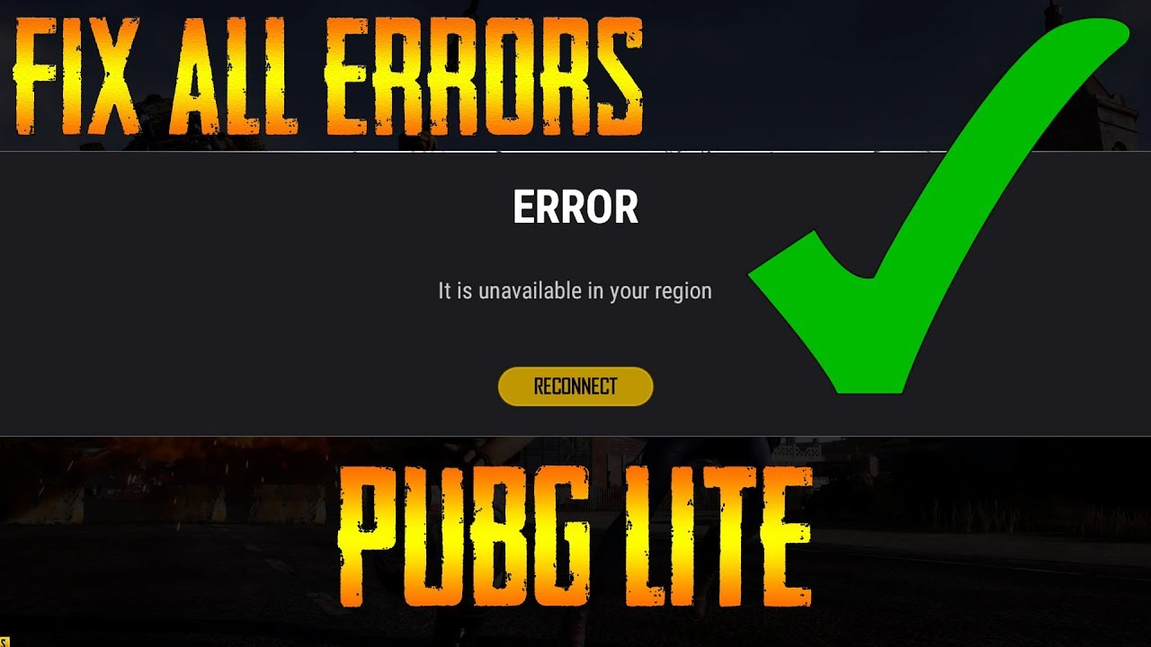 How To Fix Servers Are Too Busy Other Errors In Pubg Pc Lite
