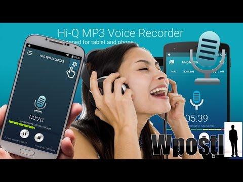 شرح تطبيق : Hi-Q MP3 Voice Recorder : تسجيل الصوت والمكالمات بجودة عالية  mp3