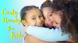 Easy Curly Hairstyles for Kids this Holiday | DAY 7 of 7 DAYS of HAIR