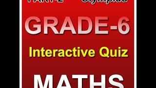 Math Olympiad Grade 6 Interactive Quiz