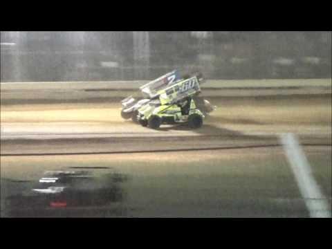 AJ Flick 410 Sprint Sharon Speedway July 9, 2016 ASCoC Lou Blaney Memorial