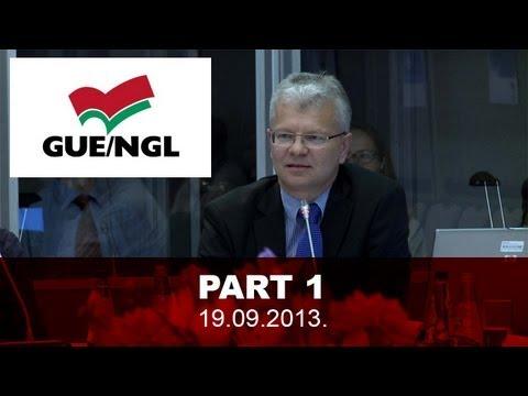 Interneta tiešraides ieraksts Bureau of the GUE/NGL 19.09.2013. Part 1